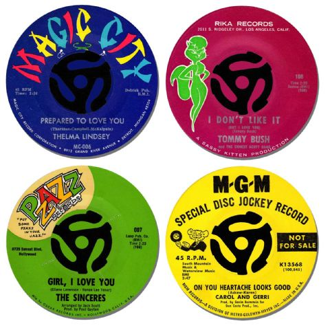 Northern Soul Record Label Coasters Set Of 4. Collectors Rarities, Drinks #2